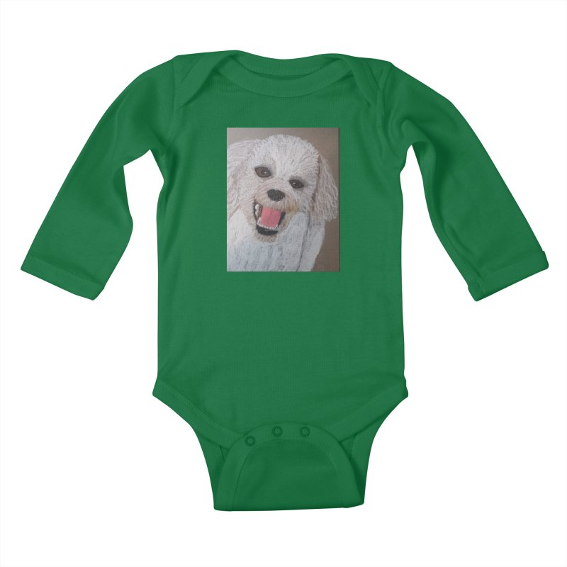 Golden Doodle Kids Baby Longsleeve Bodysuit by Whimsical Wildlife Wares