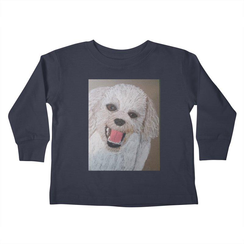 Golden Doodle Kids Toddler Longsleeve T-Shirt by Whimsical Wildlife Wares