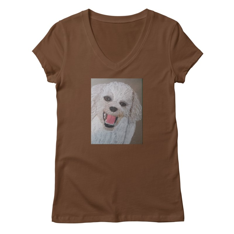 Golden Doodle Women's V-Neck by Whimsical Wildlife Wares