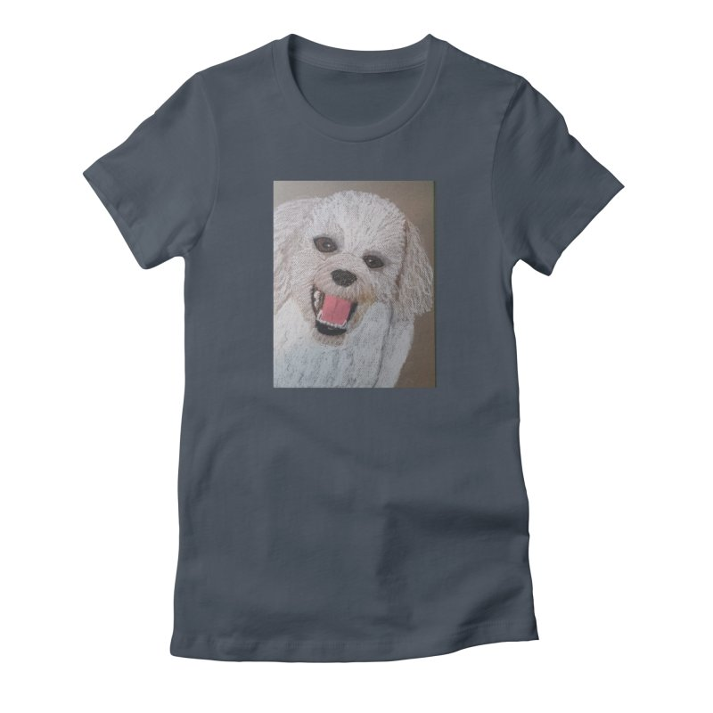Golden Doodle Women's Fitted T-Shirt by Whimsical Wildlife Wares