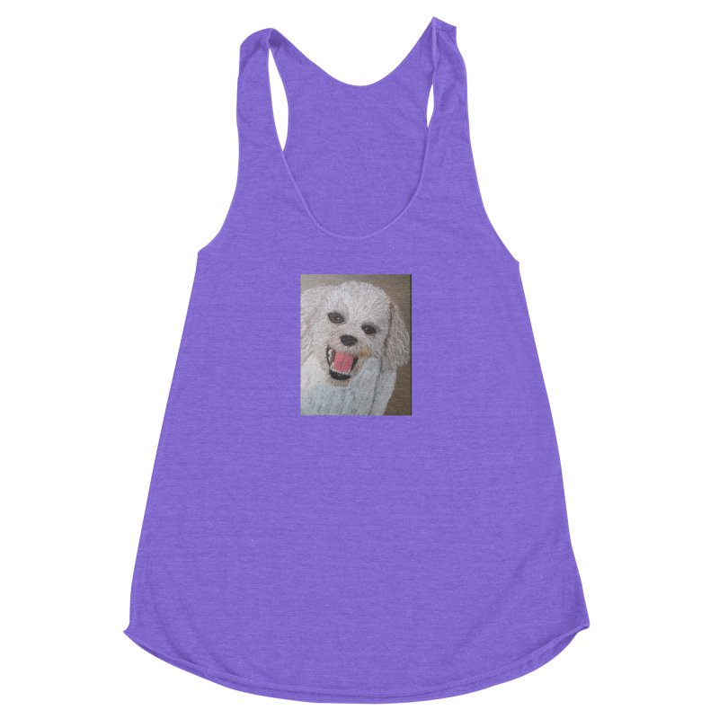 Golden Doodle Women's Racerback Triblend Tank by Whimsical Wildlife Wares