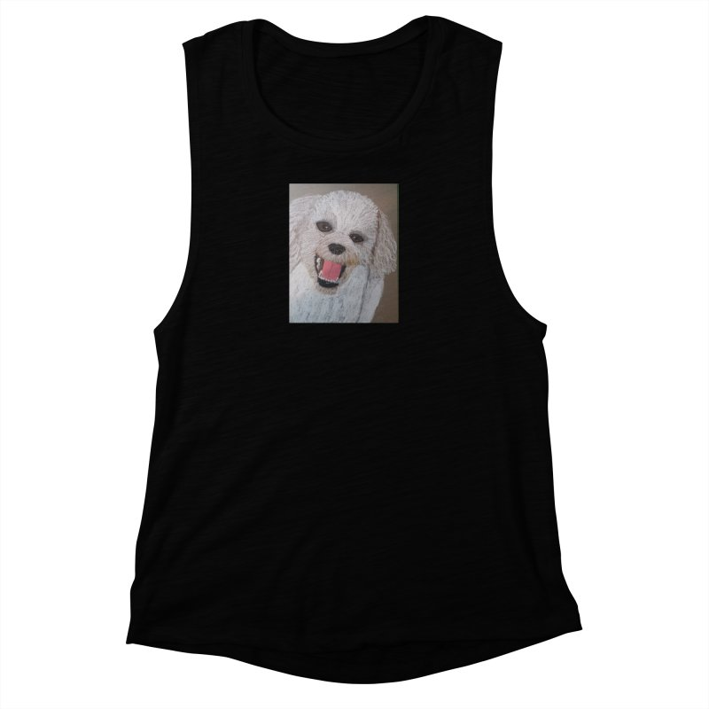 Golden Doodle Women's Muscle Tank by Whimsical Wildlife Wares