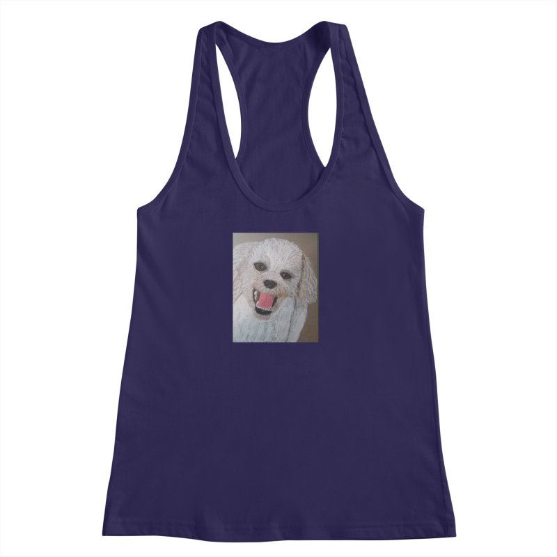 Golden Doodle Women's Racerback Tank by Whimsical Wildlife Wares