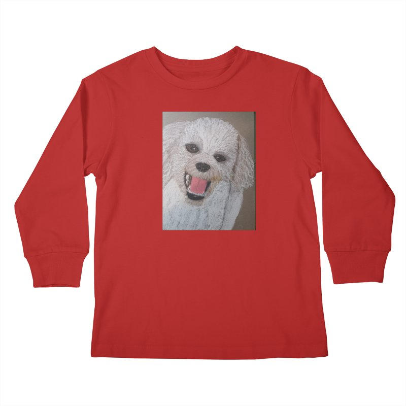 Golden Doodle Kids Longsleeve T-Shirt by Whimsical Wildlife Wares