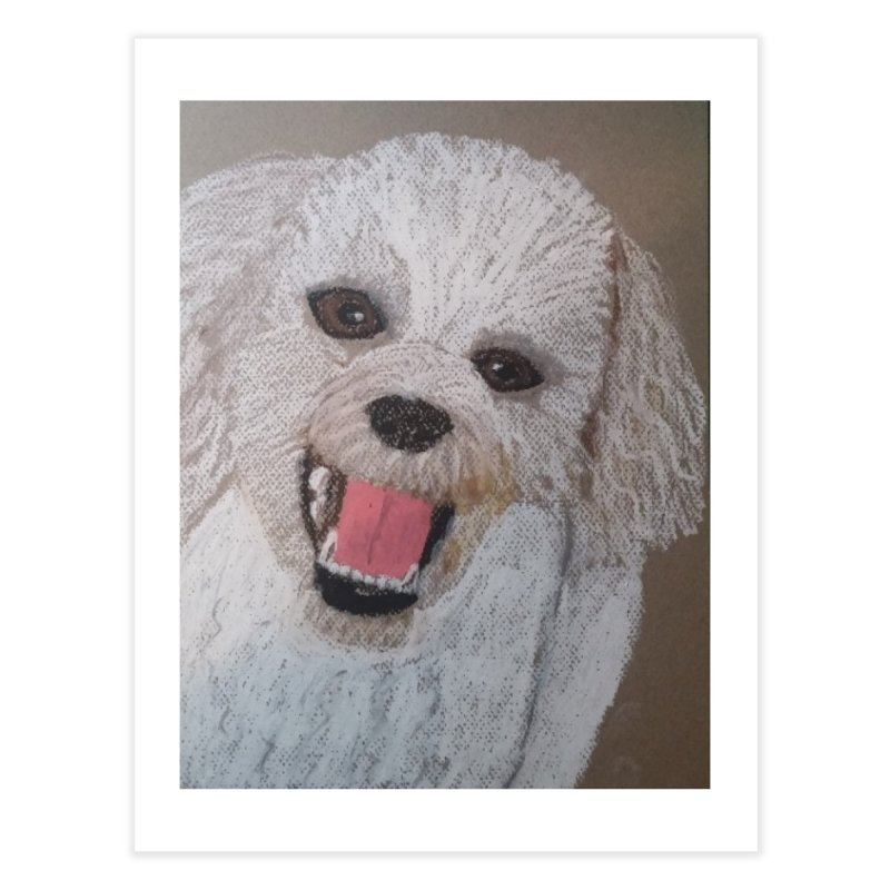 Golden Doodle Home Fine Art Print by Whimsical Wildlife Wares