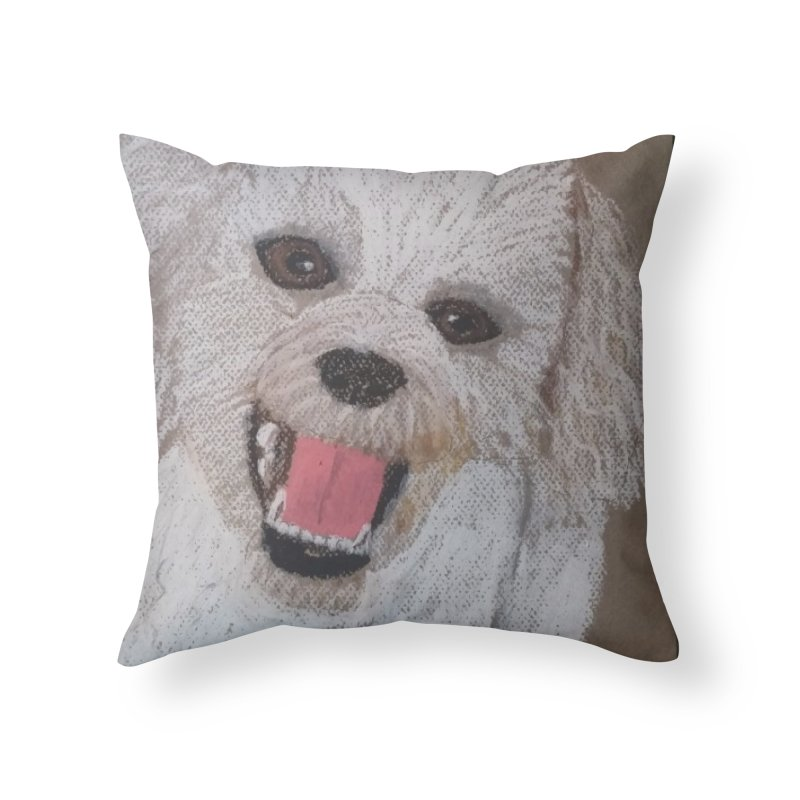 Golden Doodle Home Throw Pillow by Whimsical Wildlife Wares