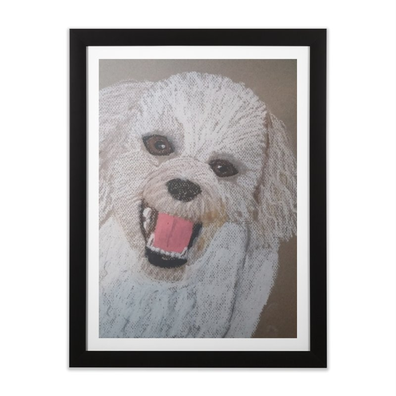 Golden Doodle Home Framed Fine Art Print by Whimsical Wildlife Wares
