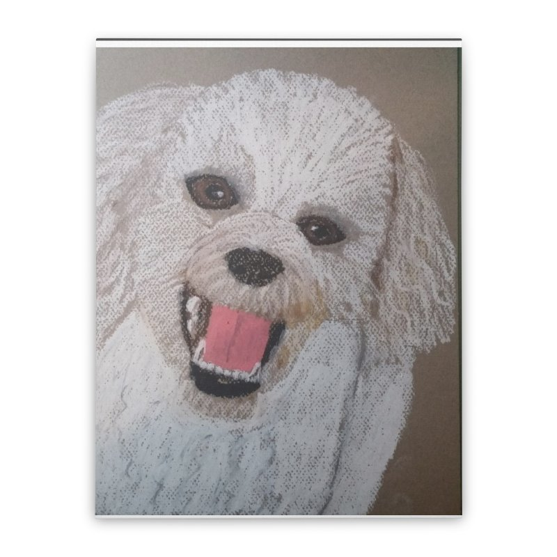Golden Doodle Home Stretched Canvas by Whimsical Wildlife Wares