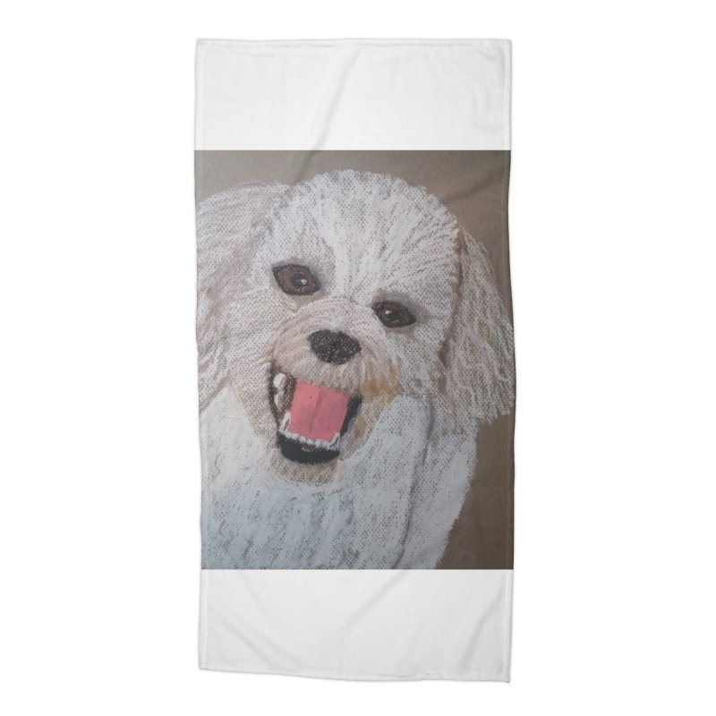 Golden Doodle Accessories Beach Towel by Whimsical Wildlife Wares
