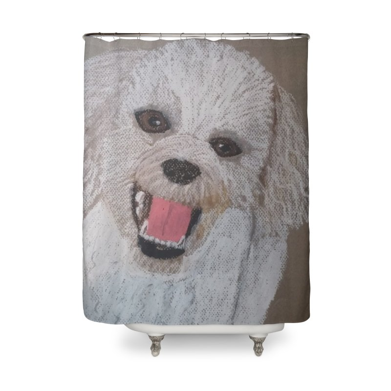 Golden Doodle Home Shower Curtain by Whimsical Wildlife Wares