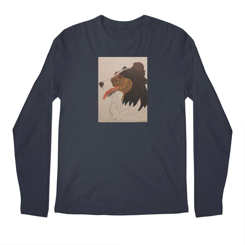 Sheltie/Border collie Men's Longsleeve T-Shirt by Whimsical Wildlife Wares