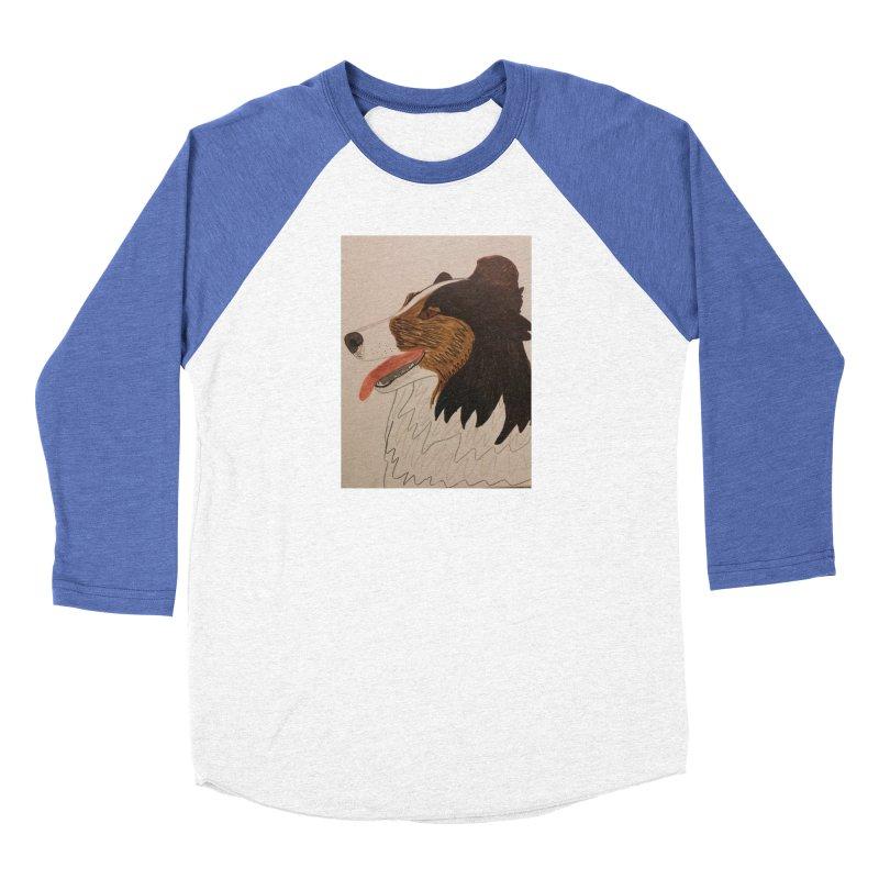 Sheltie/Border collie Women's Baseball Triblend T-Shirt by Whimsical Wildlife Wares
