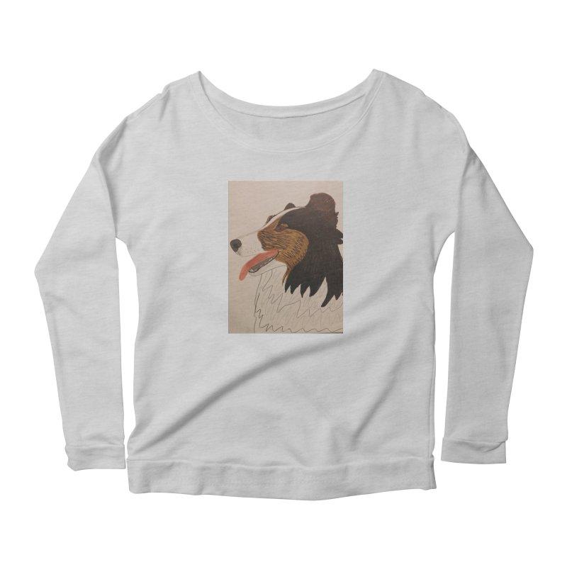 Sheltie/Border collie Women's Longsleeve Scoopneck  by Whimsical Wildlife Wares