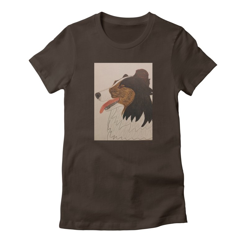 Sheltie/Border collie Women's Fitted T-Shirt by Whimsical Wildlife Wares