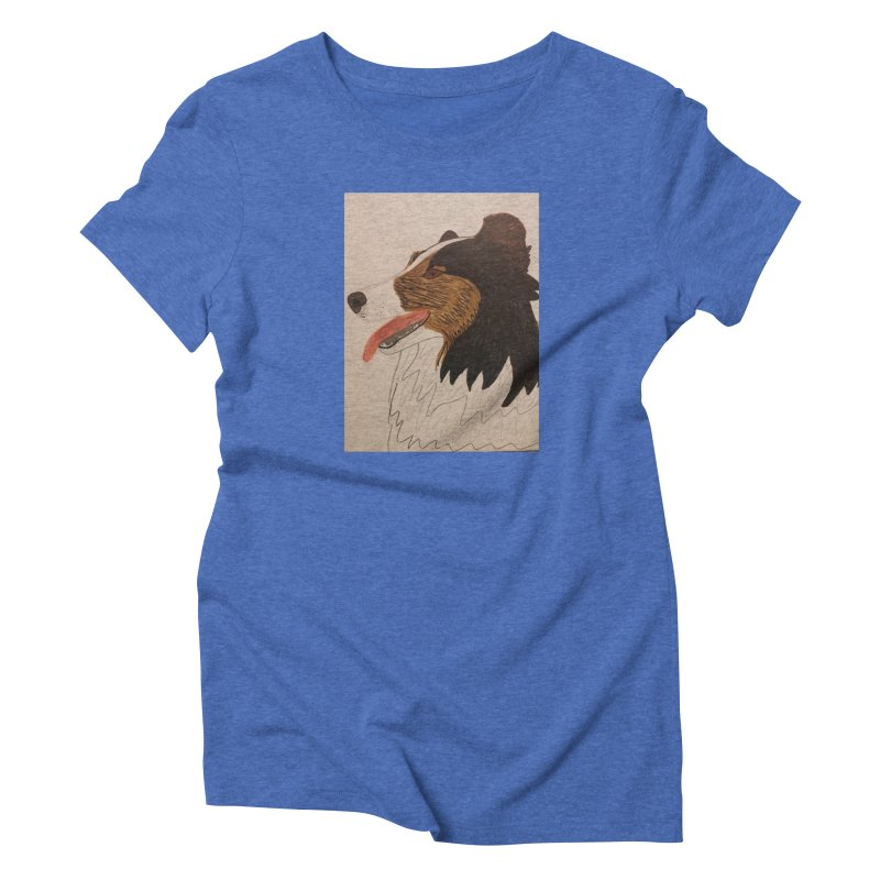 Sheltie/Border collie Women's Triblend T-shirt by Whimsical Wildlife Wares