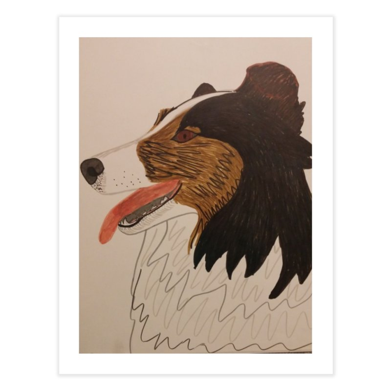 Sheltie/Border collie Home Fine Art Print by Whimsical Wildlife Wares