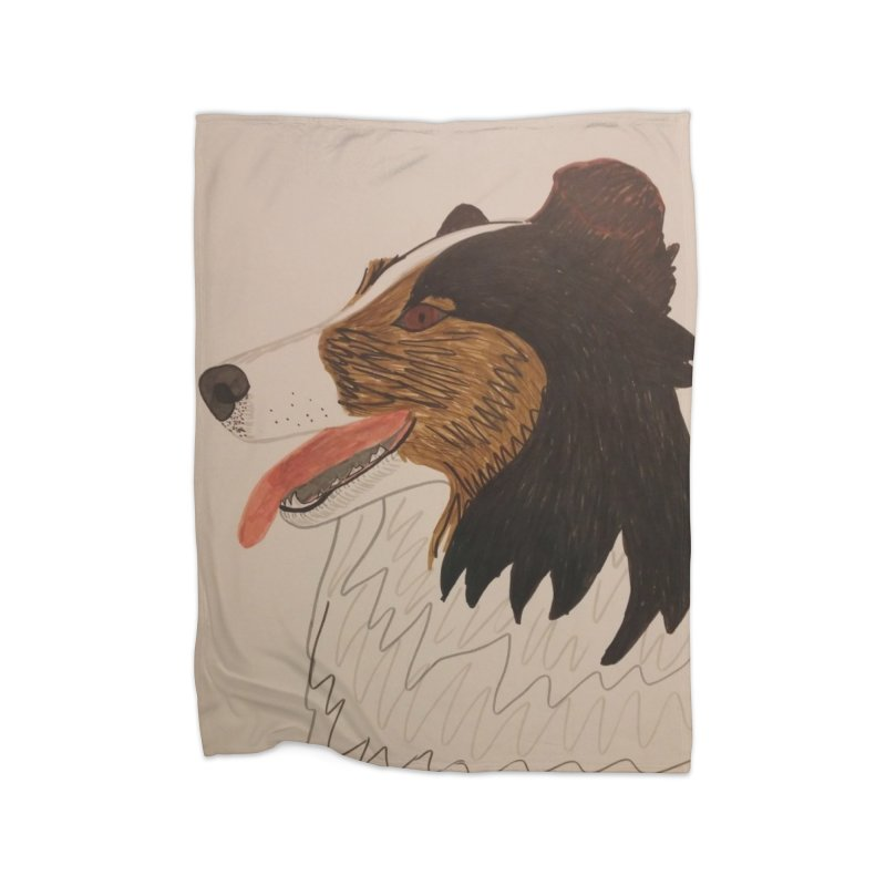 Sheltie/Border collie Home Blanket by Whimsical Wildlife Wares
