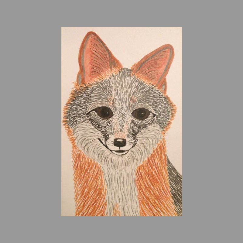 Grey Fox None  by Whimsical Wildlife Wares