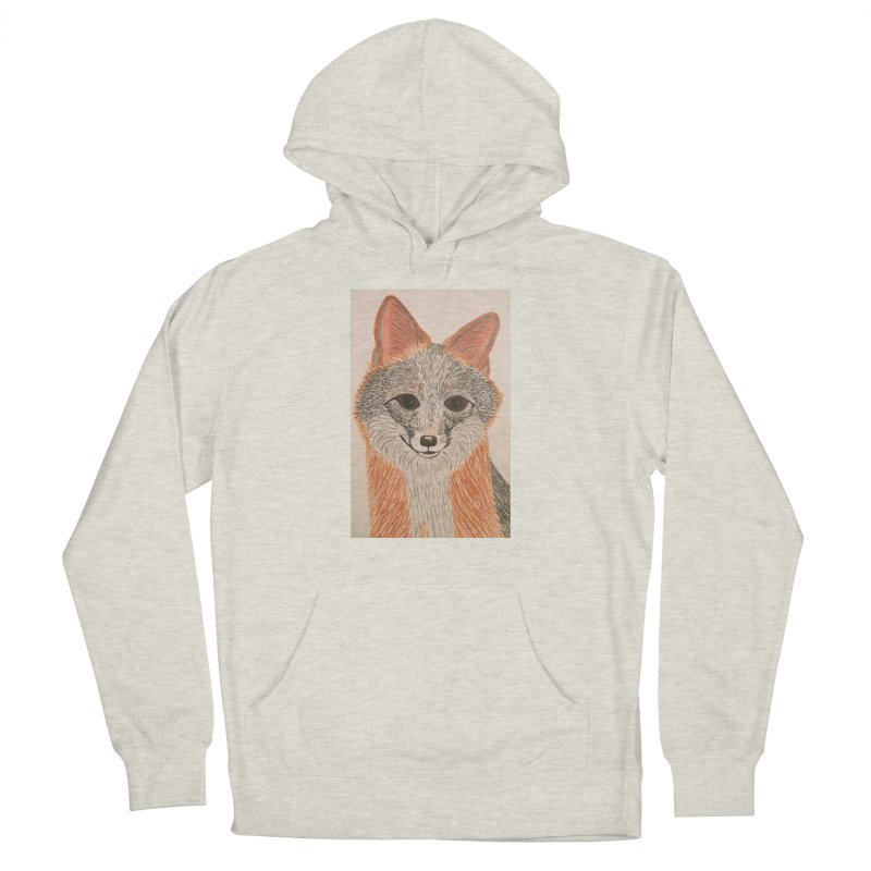 Grey Fox Women's Pullover Hoody by Whimsical Wildlife Wares