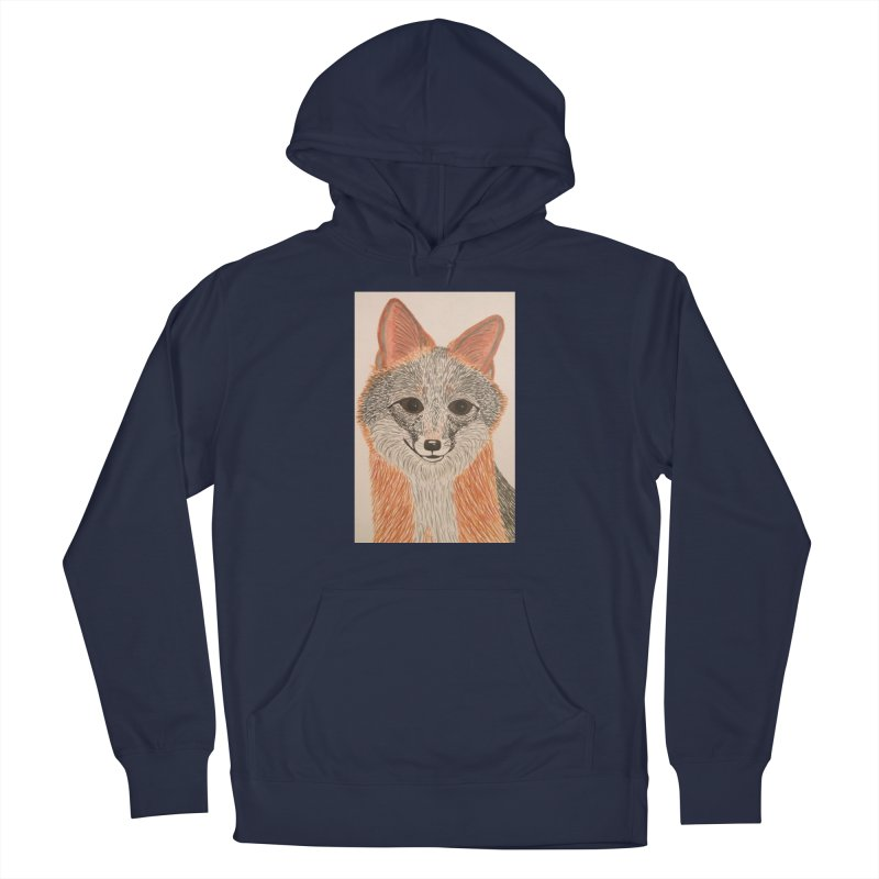 Grey Fox Men's Pullover Hoody by Whimsical Wildlife Wares