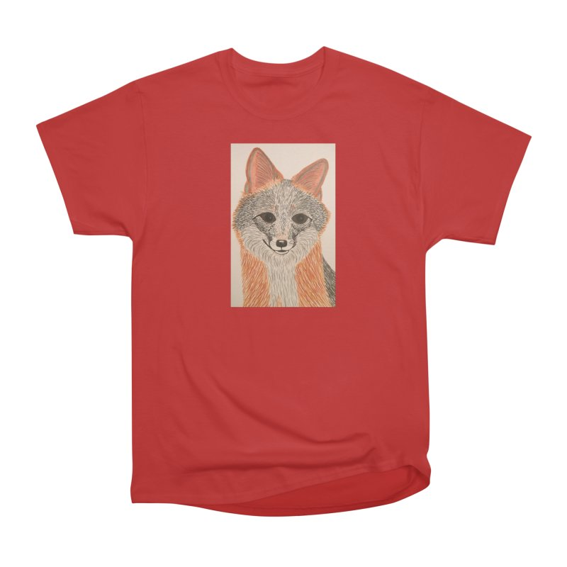 Grey Fox Men's Classic T-Shirt by Whimsical Wildlife Wares