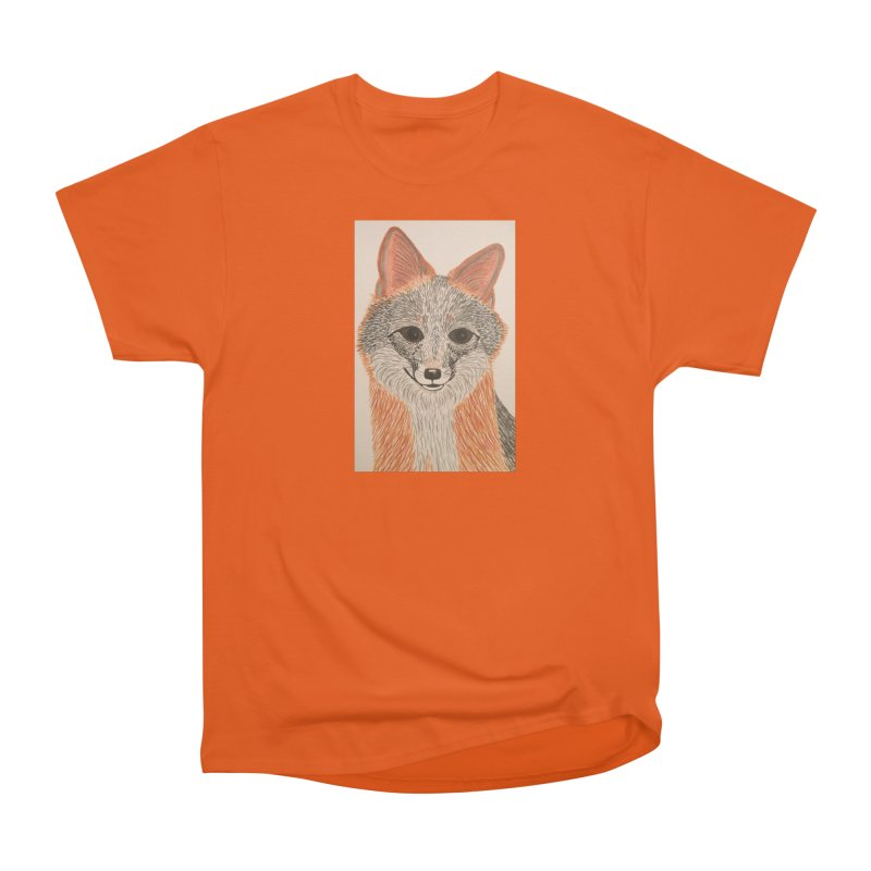Grey Fox Women's Classic Unisex T-Shirt by Whimsical Wildlife Wares