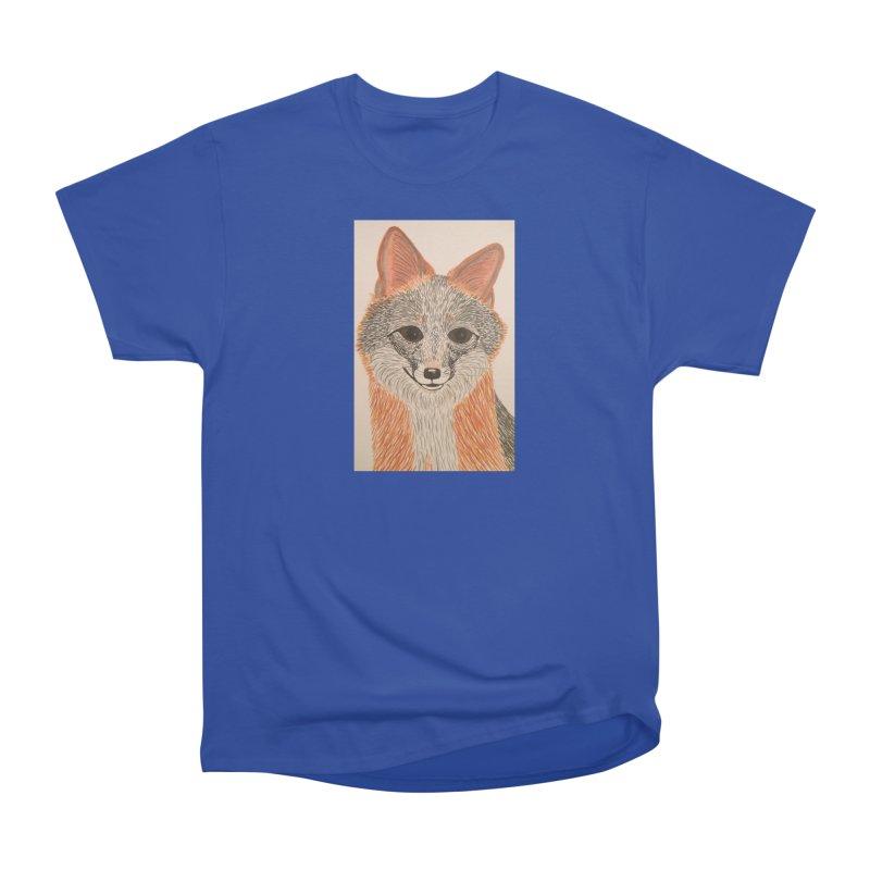 Grey Fox Women's Classic Unisex T-Shirt by Whimsical Wildlife Wares
