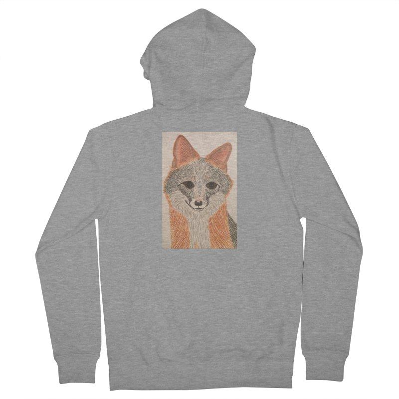 Grey Fox Women's Zip-Up Hoody by Whimsical Wildlife Wares