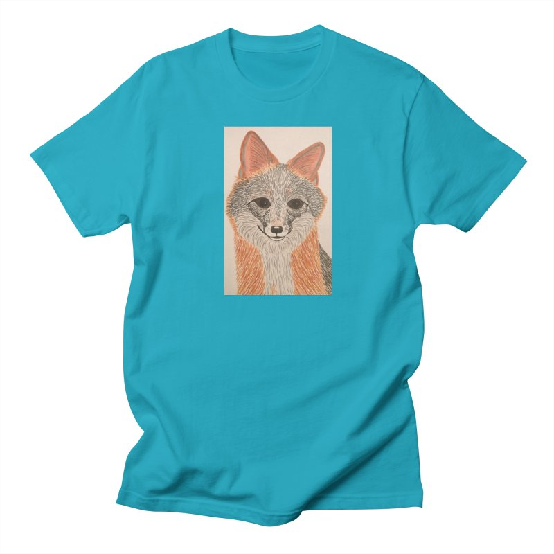 Grey Fox Women's Unisex T-Shirt by Whimsical Wildlife Wares