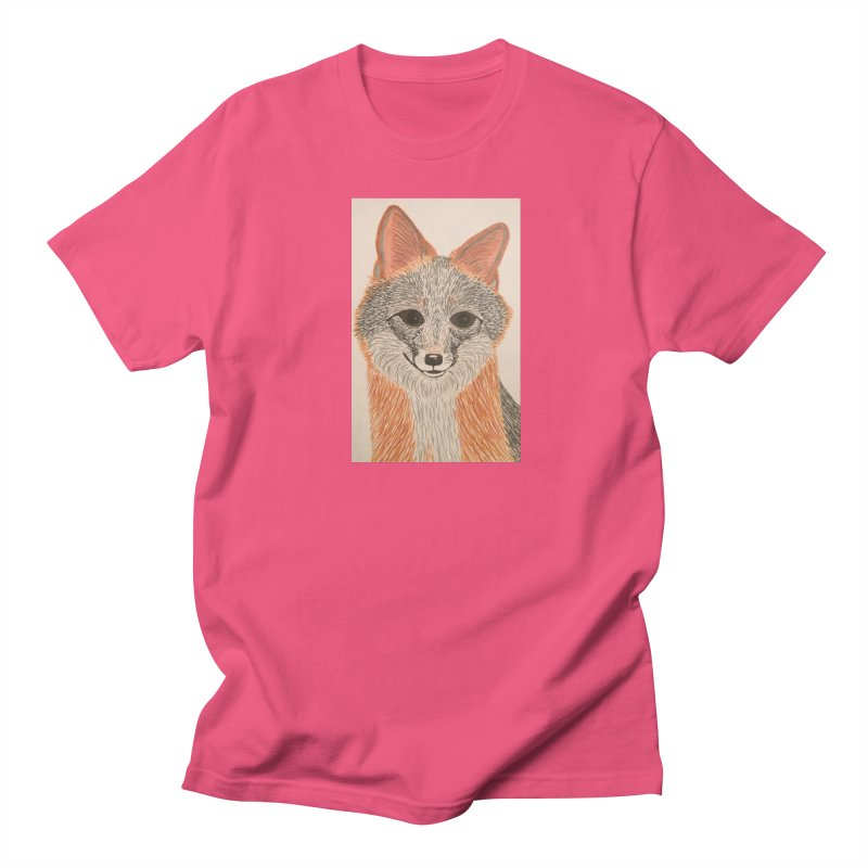 Grey Fox Men's T-shirt by Whimsical Wildlife Wares