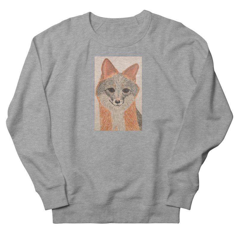 Grey Fox Women's Sweatshirt by Whimsical Wildlife Wares