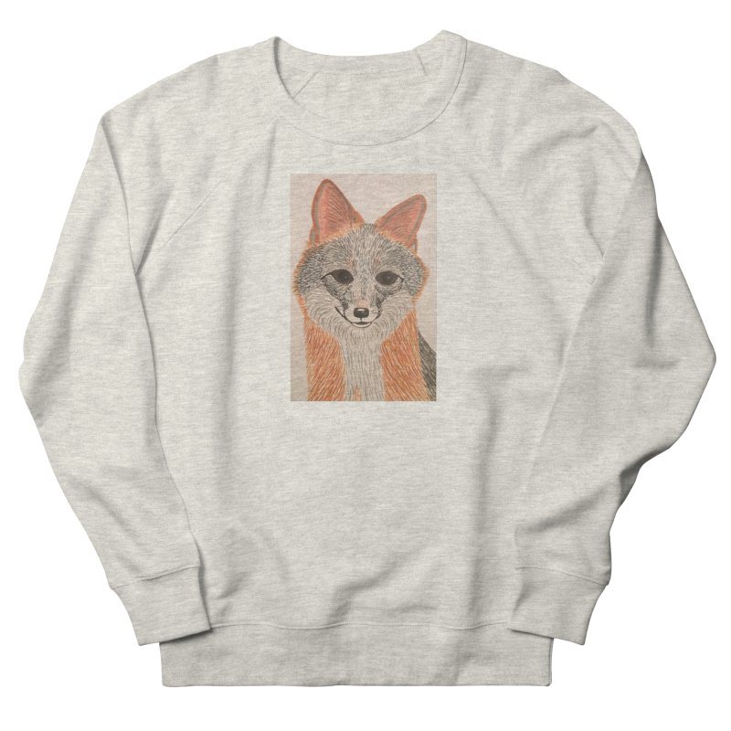 Grey Fox Women's Sweatshirt by Whimsical Wildlife Wares