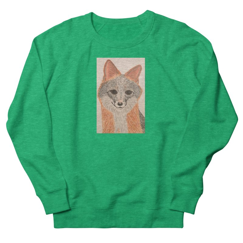 Grey Fox Men's Sweatshirt by Whimsical Wildlife Wares
