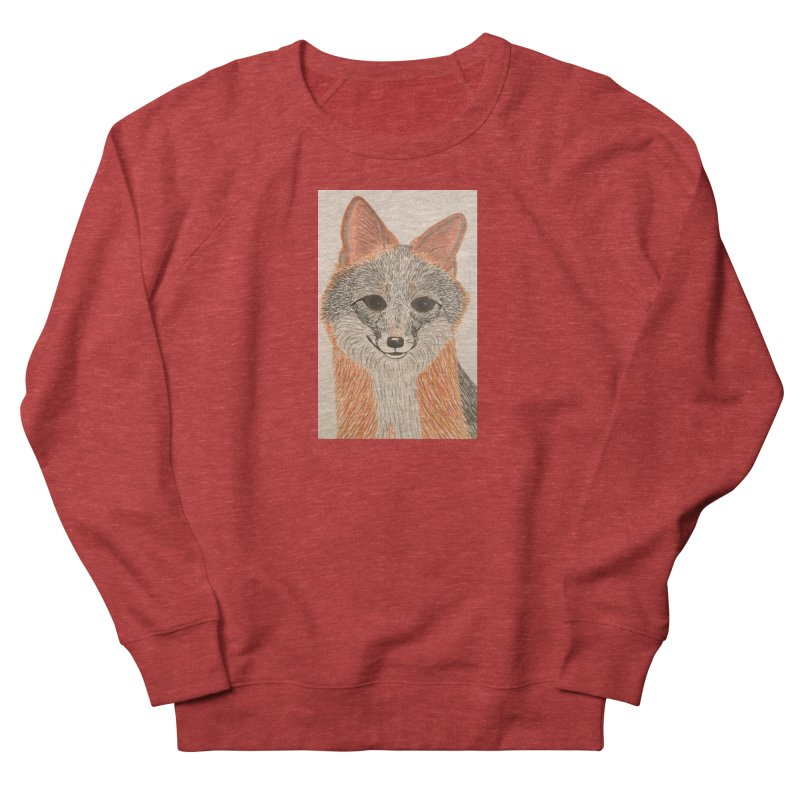 Grey Fox Men's Sweatshirt by Whimsical Wildlife Wares