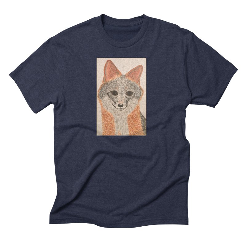 Grey Fox Men's Triblend T-shirt by Whimsical Wildlife Wares