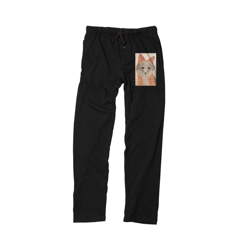 Grey Fox Men's Lounge Pants by Whimsical Wildlife Wares