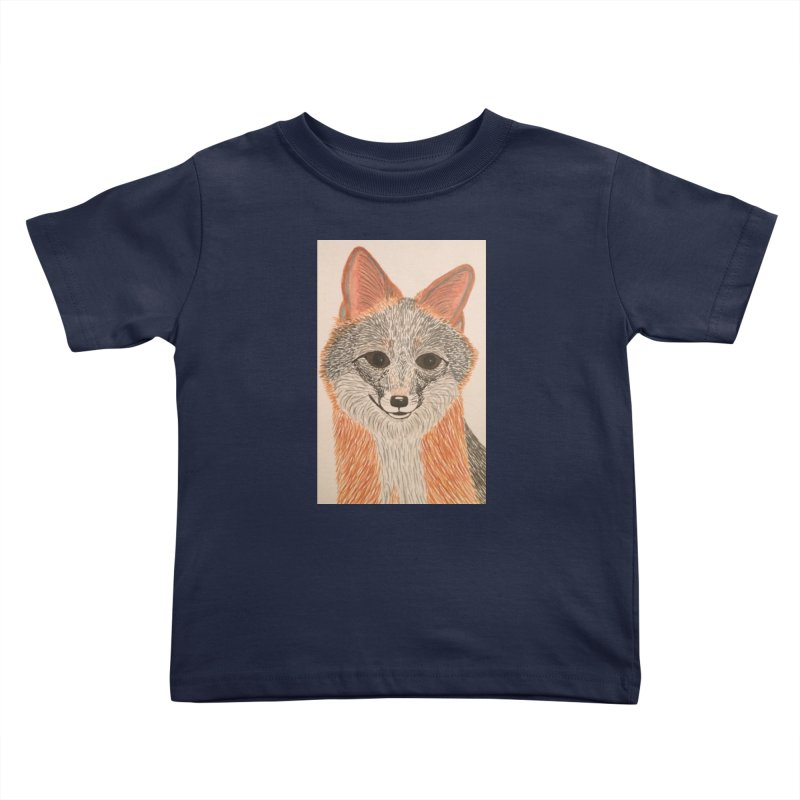 Grey Fox Kids Toddler T-Shirt by Whimsical Wildlife Wares