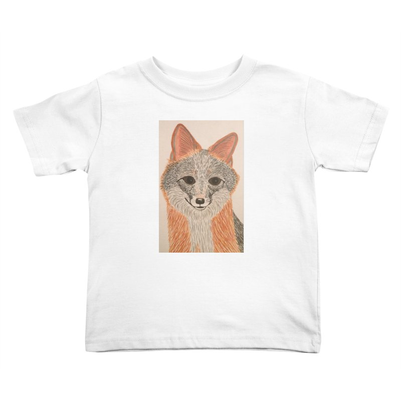 Grey Fox Kids Toddler T-Shirt by Whimsical Wildlife Wares