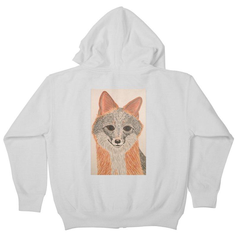 Grey Fox Kids Zip-Up Hoody by Whimsical Wildlife Wares