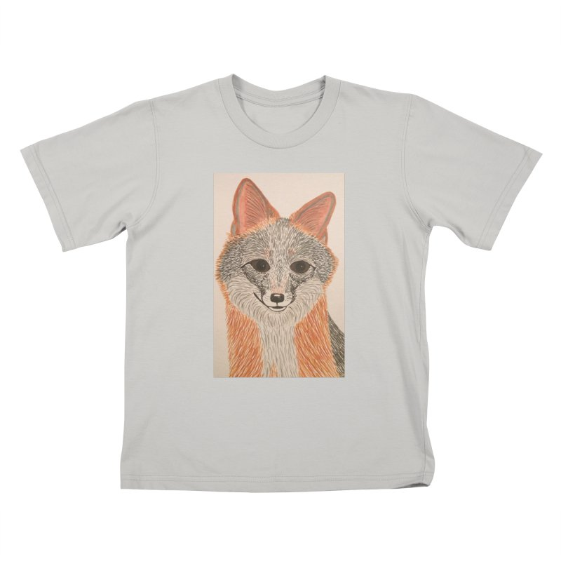 Grey Fox Kids T-Shirt by Whimsical Wildlife Wares