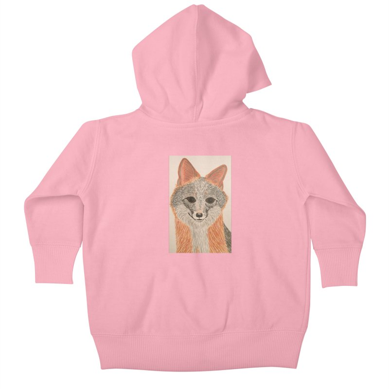 Grey Fox Kids Baby Zip-Up Hoody by Whimsical Wildlife Wares