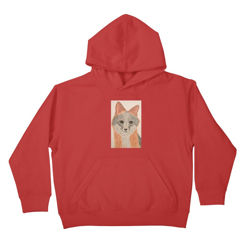 Grey Fox Kids Pullover Hoody by Whimsical Wildlife Wares
