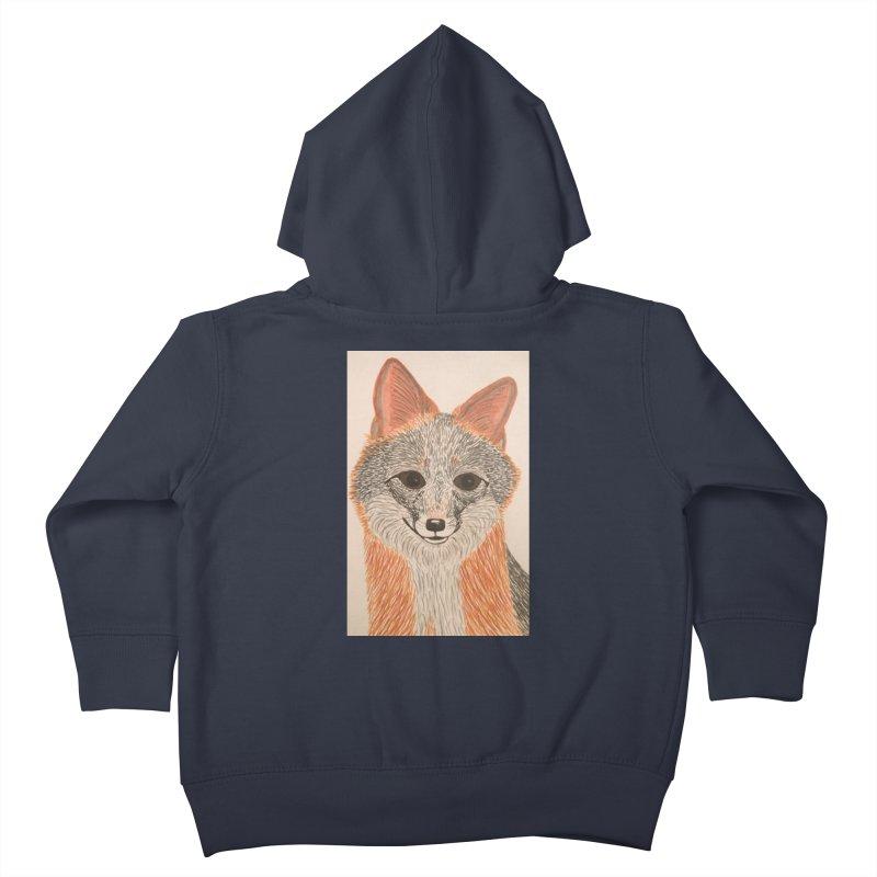 Grey Fox Kids Toddler Zip-Up Hoody by Whimsical Wildlife Wares