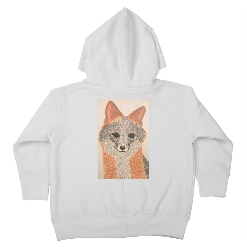 Grey Fox Kids Toddler Zip-Up Hoody by Whimsical Wildlife Wares