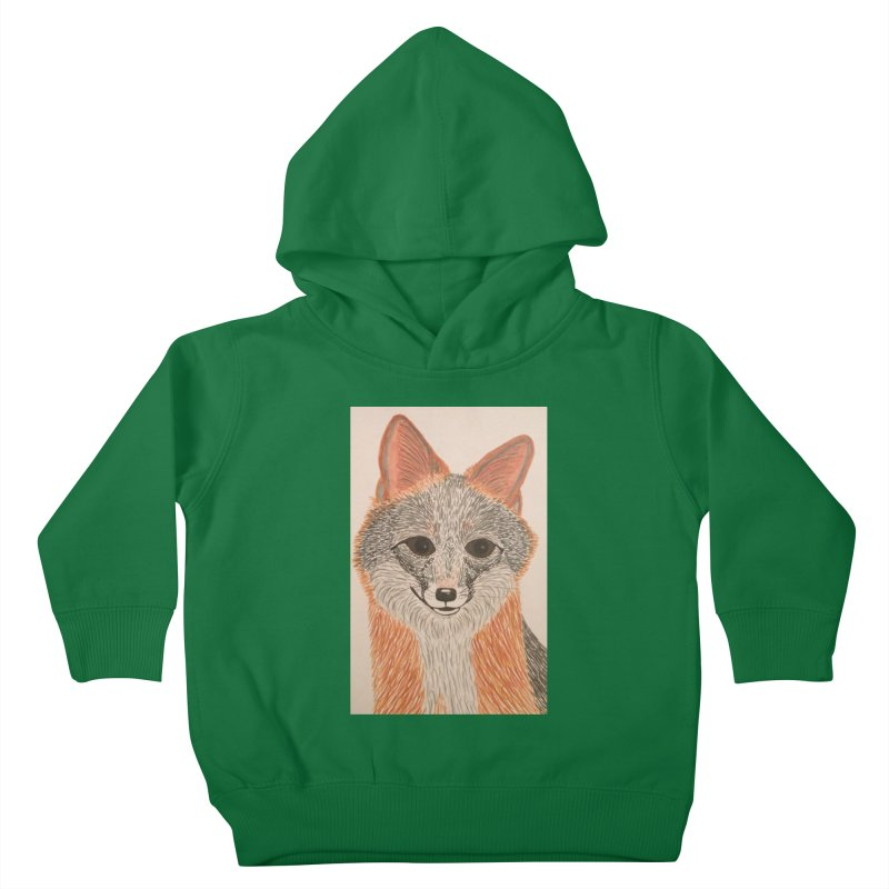 Grey Fox Kids Toddler Pullover Hoody by Whimsical Wildlife Wares