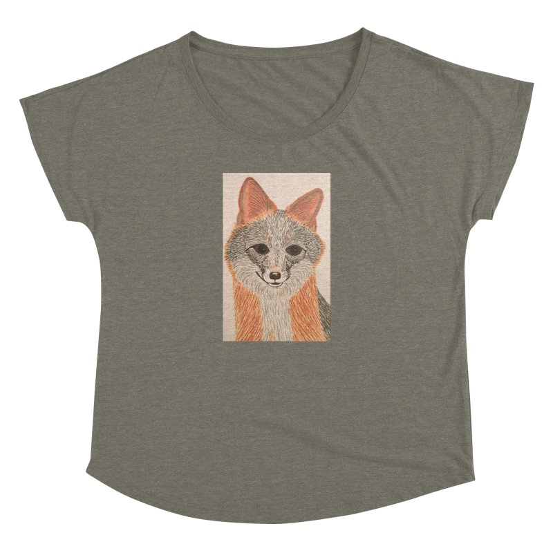 Grey Fox Women's Dolman by Whimsical Wildlife Wares