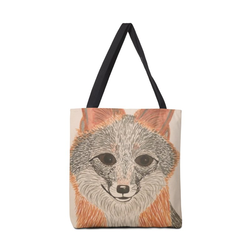 Grey Fox Accessories Bag by Whimsical Wildlife Wares