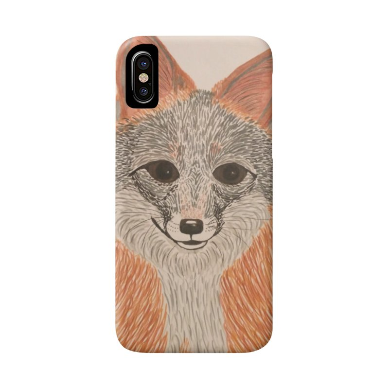Grey Fox Accessories Phone Case by Whimsical Wildlife Wares