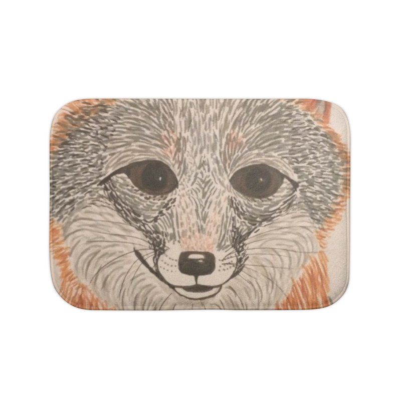 Grey Fox Home Bath Mat by Whimsical Wildlife Wares