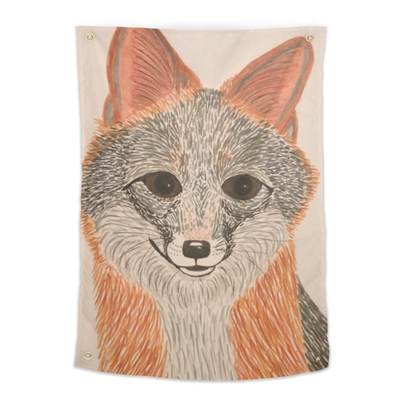 Grey Fox Home Tapestry by Whimsical Wildlife Wares